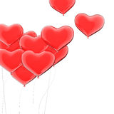 Valentine's balloons Royalty Free Stock Photos
