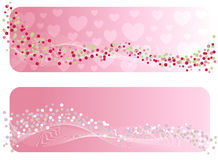 The Valentine's banner. Stock Photo
