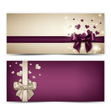 Valentine's Banners Stock Photography