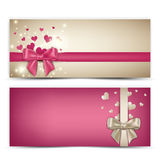 Valentine's Banners Stock Images