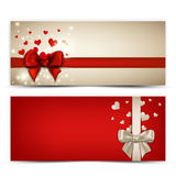 Valentine's Banners Stock Photo