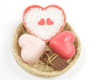 Valentine's bath set Stock Image