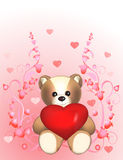 Valentine's Bear with heart Royalty Free Stock Photo