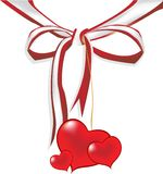 Valentine's bow Royalty Free Stock Image