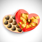 Valentine's box of chocolates Royalty Free Stock Photos
