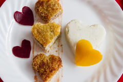 Valentine's breakfast Royalty Free Stock Photo