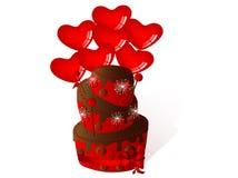 Valentine's cake Royalty Free Stock Photography