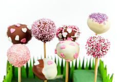 Valentine's cake pops Royalty Free Stock Photos