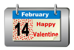 Valentine's calendar Royalty Free Stock Images