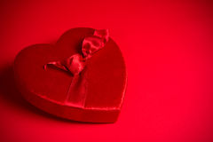 Valentine's Candy Box on red background Stock Photography