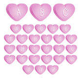 Valentine's Candy Font Royalty Free Stock Image