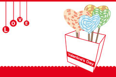 Valentine\'s candy gift box Stock Photo