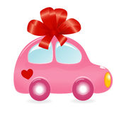 The Valentine's car Stock Image