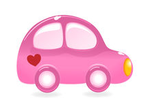 The Valentine's car royalty free illustration