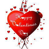 Valentine`s card. Royalty Free Stock Photos