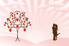 Valentine`s card Stock Photography