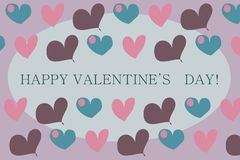 Valentine's card Royalty Free Stock Images