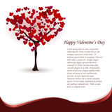 Valentine's card. With love tree with hearts instead of foliage Stock Photo