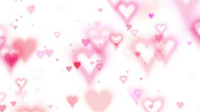 Valentine's card. Flying hearts background. Wight color stock video