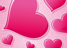 Valentine's card. Pink heart valentine's card, vector illustration Stock Images