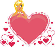 Valentine's Card Royalty Free Stock Image