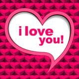 Valentine's card background pink Stock Image