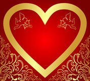 Valentine's Card or Background. Stock Image
