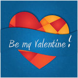 Valentine's card (blue) Royalty Free Stock Images