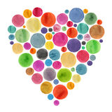 Valentine`s card. colorful watercolor mug isolated Royalty Free Stock Photography