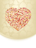 Valentine's card with copy space. EPS 8 Royalty Free Stock Photos
