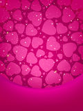 Valentine\'s card with copy space. EPS 8 Royalty Free Stock Photo