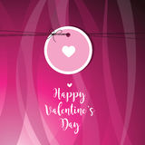 Valentine`s card with copy space. Template. Graphic design eleme Stock Photo