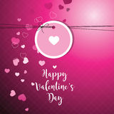Valentine`s card with copy space. Template. Graphic design eleme Stock Images