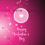 Valentine`s card with copy space. Template. Graphic design eleme Stock Photos