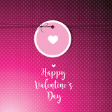 Valentine`s card with copy space. Template. Graphic design eleme stock illustration