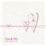 Valentine's card Royalty Free Stock Photography