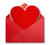 Valentine's card and envelope. stock images
