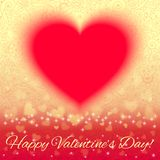 Valentine's card with floral ornament Stock Photography