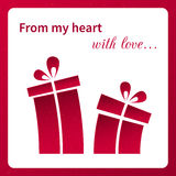 Valentine's card with gifts. This is file of EPS10 format Stock Photo