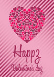 Valentines card in vector Royalty Free Stock Photo