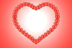 Valentine's card with heart Stock Images