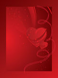 Valentine's card with heart Stock Photography