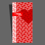 Valentine's card. Heart. Royalty Free Stock Photos