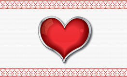 Valentine`s card with heart Stock Photography