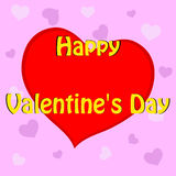 Valentine`s card with a heart Royalty Free Stock Images