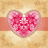 Valentine`s card with heart. Vector Royalty Free Stock Image