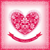 Valentine`s card with heart. Royalty Free Stock Images
