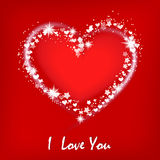 Valentine`s card with heart. Royalty Free Stock Image