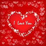 Valentine`s card with heart. Royalty Free Stock Photos