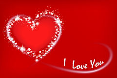 Valentine`s card with heart. Stock Image